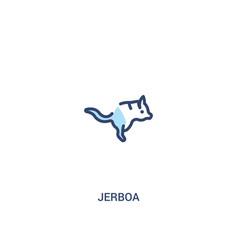 Jerboa concept 2 colored icon simple line element vector