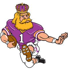 king sports logo mascot football vector image