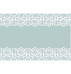 lace background vintage ornament floral vector image