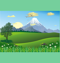 landscape - mountain range on the horizon vector image