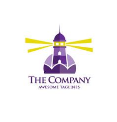 Lighthouse flat logo vector
