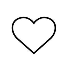Love line icon heart symbol simple design vector