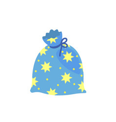 magic star bag icon flat style vector image