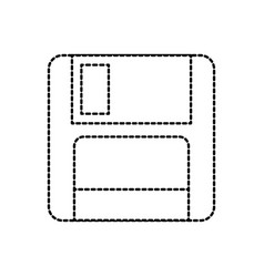 Magnetic floppy disk icon for computer data vector