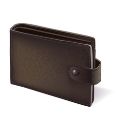Modern black wallet with leather texture vector