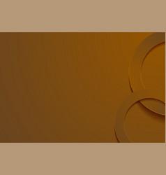 Modern brown backgrounds 3d circle papercut layer vector
