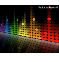 multicolored equalizer vector image