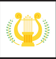 music school logo lyre or cither icon vector image