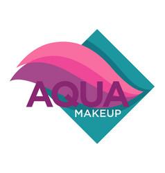 Natural cosmetics aqua makeup isolated icon vector