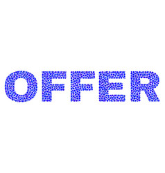Offer text in dot style vector