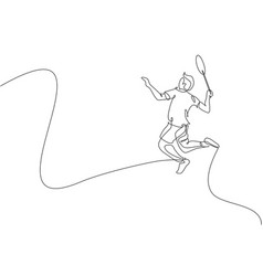 one single line drawing young energetic vector image