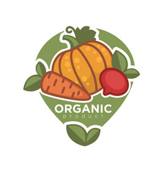 Organic product advertising poster vector