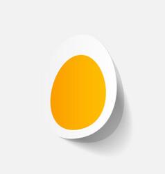Paper sticker egg vector