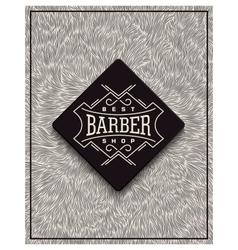 Poster design for Barbershop vector image
