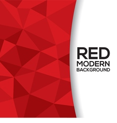 Red Graphic Background With White Space vector