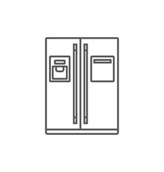 refrigerator isolated icon in linear style vector image