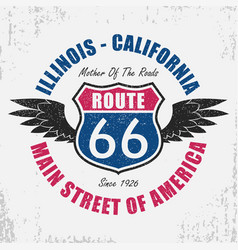 Route 66 t-shirt vector