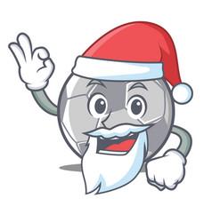 Santa football character cartoon style vector
