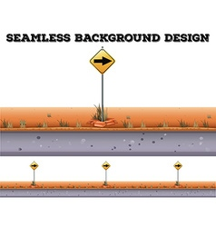 Seamless background with traffic sign vector
