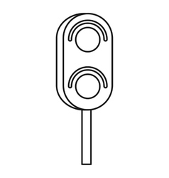 Semaphore trafficlight icon outline style vector