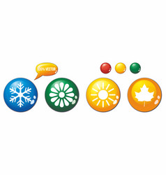 Set icons for winter spring summer and autumn vector