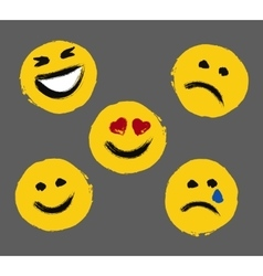Smiley Faces Painted Emoticons vector