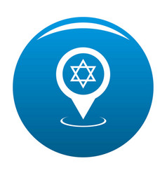 synagogue map pointer icon blue vector image