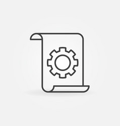 technical documentation concept linear icon vector image
