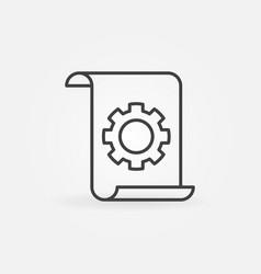 Technical documentation concept linear icon vector