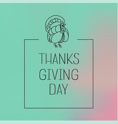 thanksgiving day concept background simple style vector image