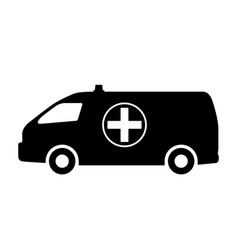 the car of medical service vector image