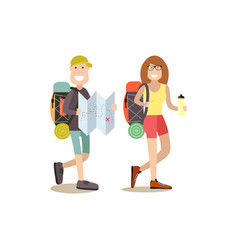 Tourist people in flat style vector