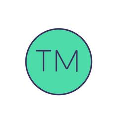 Trademark symbol rgb color icon vector
