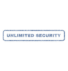 unlimited security textile stamp vector image