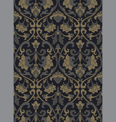 victorian floral pattern vector image
