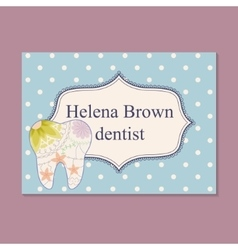 Vintage business card for dentist vector