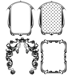 Vintage Frames Elements Set vector image