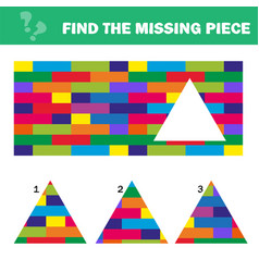 Visual logic puzzle find missing piece - puzzle vector