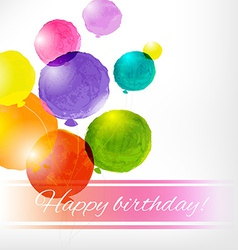 Watercolor Balloon Card vector