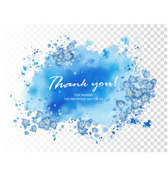 Wedding thank you card vector