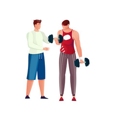 Weight lifting exercise composition vector