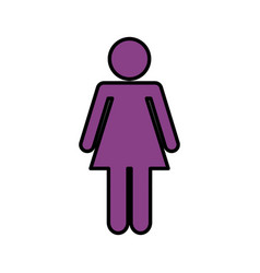 Woman avatar figure silhouette icon vector