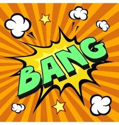 bang cartoon comic explosion vector image vector image