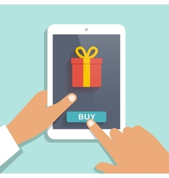 E commerce flat background vector image vector image