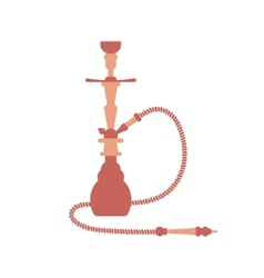 Hookah Flat Design Isolated vector image vector image