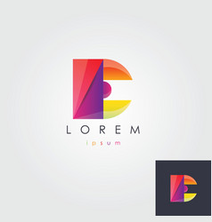 letter E colorful design element vector image