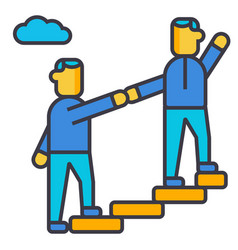 mentor helping mentoring achieving goal flat vector image