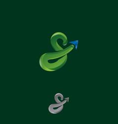 s letter gps logo vector image