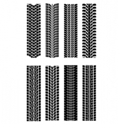 tire shapes vector image vector image