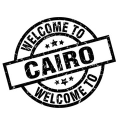 welcome to cairo black stamp vector image vector image